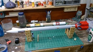 XR-10 boilerplate gets its coat of primer...